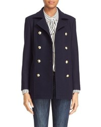 Double breasted wool peacoat medium 757557