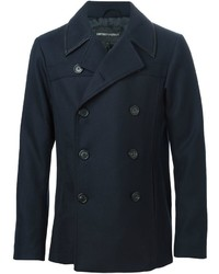Emporio Armani Sheepskin Trim Peacoat
