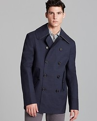 Hancock Double Breasted Bonded Wool Peacoat