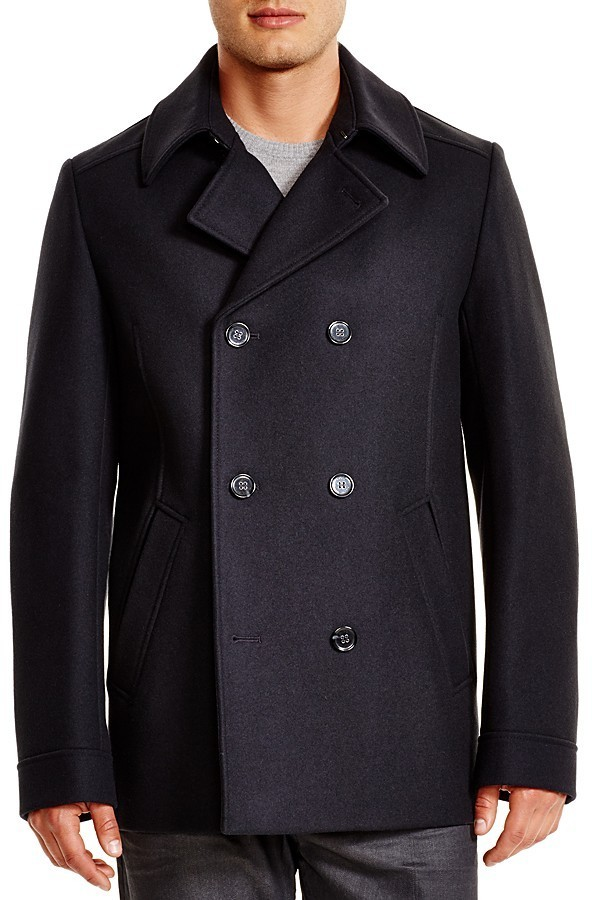 2b1fcfefd85 $495, Hugo Boss Hugo Beven Wool Pea Coat