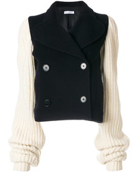 Jw anderson chunky knit sleeve peacoat medium 5276271