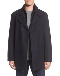 Marc new york burnett wool blend peacoat with front insert medium 5253950