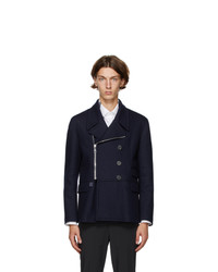 Neil Barrett Navy Patch Jacket