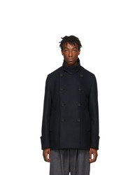 Wooyoungmi Navy Wool Peacoat