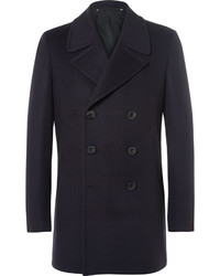 Paul Smith Slim Fit Wool And Cashmere Blend Peacoat