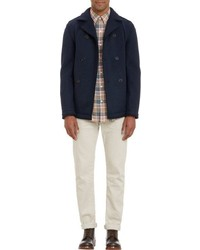 Barneys New York Peacoat Inspired Sweater Coat Blue