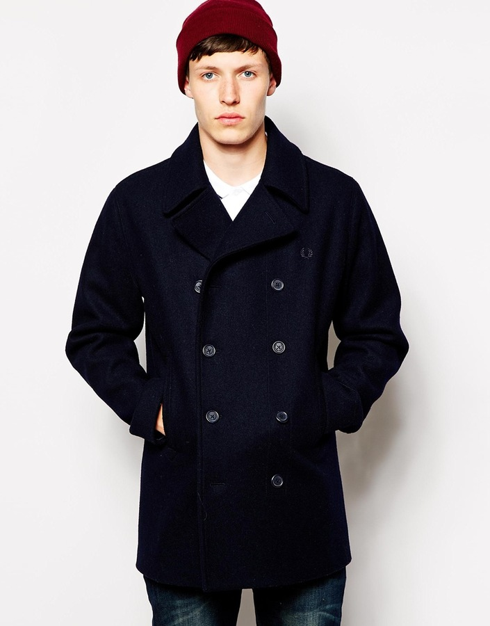 Fred Perry Peacoat   Where to buy & how to wear