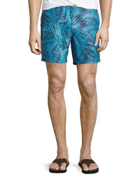 Original Penguin Penguin Palm Print Swim Trunks Peacoat