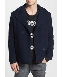 Gant Rugger R Scruffy Wool Blend Peacoat