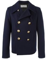 Saint Laurent Double Breasted Short Coat