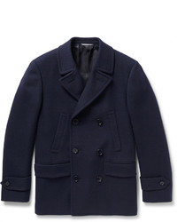 Canali Slim Fit Textured Wool And Cashmere Blend Peacoat