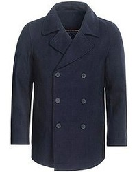 Specially Made Double Breasted Pea Coat Wool Blend Insulated