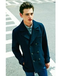 Topman Wool Blend Double Breasted Peacoat   Where to buy &amp how to wear