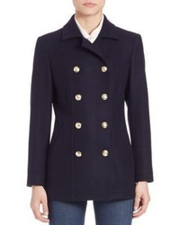 Frame Virgin Wool Double Breasted Peacoat