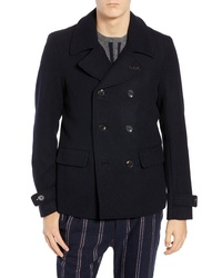 Scotch & Soda Wool Blend Peacoat