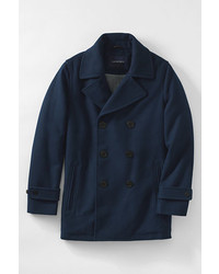 Lands' End Wool Peacoat Black