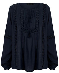 Oasis Dobby Peasant Blouse