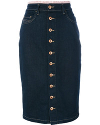 Diesel Button Front Pencil Skirt