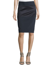 Brunello Cucinelli Combo Pencil Skirt Moonlight