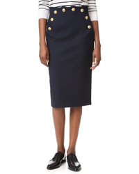 RED Valentino Pencil Skirt With Button Detail