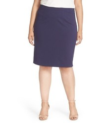 Plus Size Halogen Side Zip Pencil Skirt