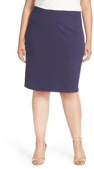 97498b0909 Plus Size Halogen Side Zip Pencil Skirt, $69 | Nordstrom | Lookastic.com