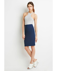 Forever 21 Ribbed Bodycon Pencil Skirt