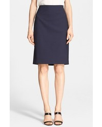 Theory Stretch Wool Pencil Skirt
