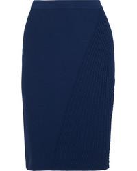 Fendi Textured Stretch Knit Pencil Skirt