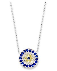 Studio Silver Sterling Silver Necklace Cubic Zirconia Accent Evil Eye Pendant