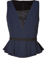 Navy peplum top original 4001166