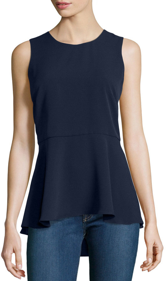 Sleeveless Peplum Top