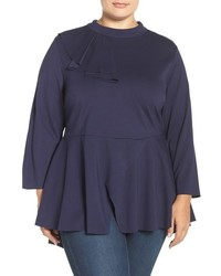Plus size seven7 flounce peplum top medium 817145