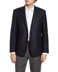 John W. Nordstrom Classic Fit Check Wool Sport Coat
