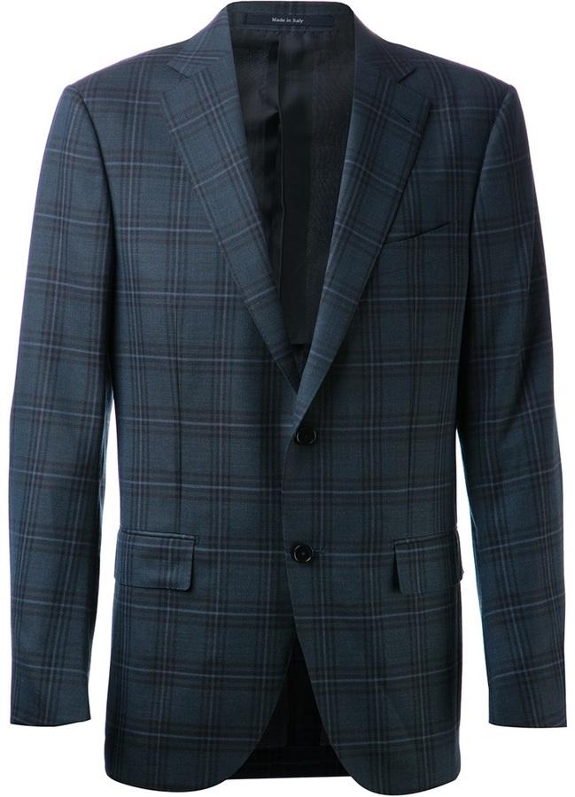 how to wear a plaid blazer men