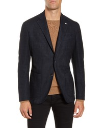 L.B.M. Fit Plaid Cotton Blend Sport Coat