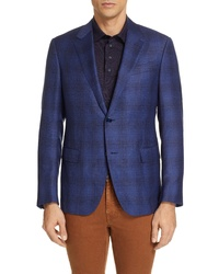Ermenegildo Zegna Fit Plaid Sport Coat
