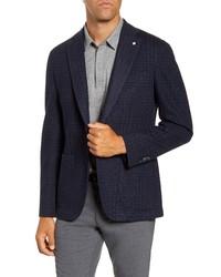 L.B.M. Fit Plaid Stretch Cotton Blend Sport Coat