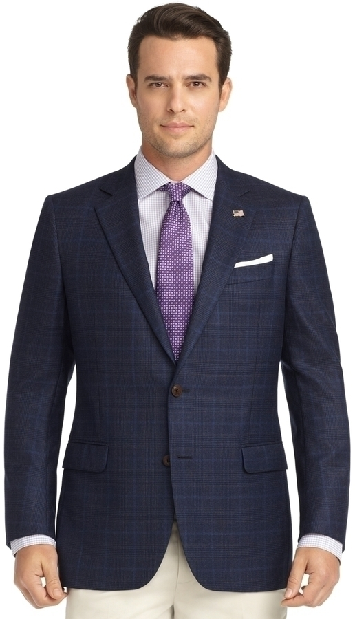 Brooks Brothers Fitzgerald Fit Plaid Saxxon Wool Sport Coat ...