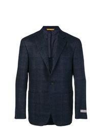 Canali Plaid Suit Jacket