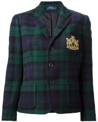 Polo Ralph Lauren Embroidered Chest Checked Blazer