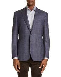 Canali Sienna Soft Classic Fit Microcheck Wool Sport Coat