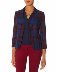 The Limited Plaid One Button Blazer