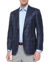 Men's Navy Plaid Blazers by Brioni | Men's Fashion