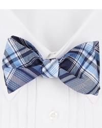 Daniel Cremieux Cremieux Warp Plaid Silk Bow Tie