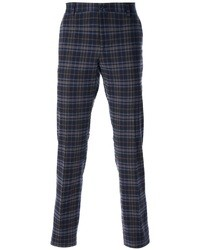Navy Plaid Chinos