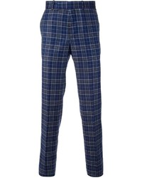 Alexander McQueen Checked Trousers