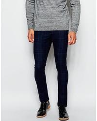 Asos Brand Super Skinny Pants In Check