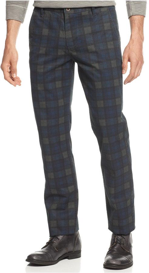 Dockers Slim Fit Alpha Khaki Plaid Flat Front Pants | Where to buy ...