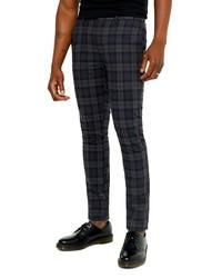 Topman Watch Check Skinny Fit Pants
